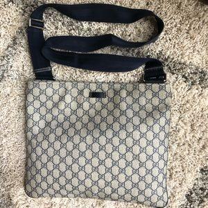 Authentic Gucci GG canvas large messenger bag